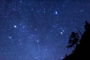 南アルプスの星空